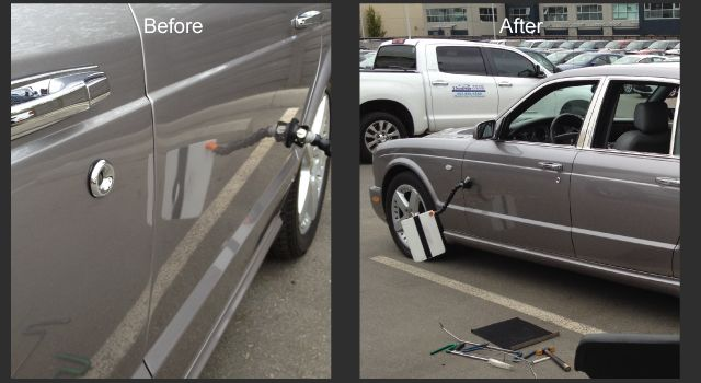 2008 Bentley before and after